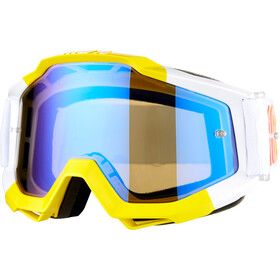 100% Accuri Anti Fog Mirror Goggles, wit/geel